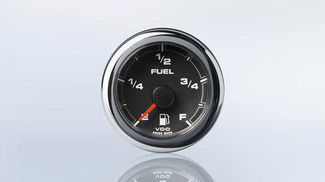 Satellite fuel level gauge