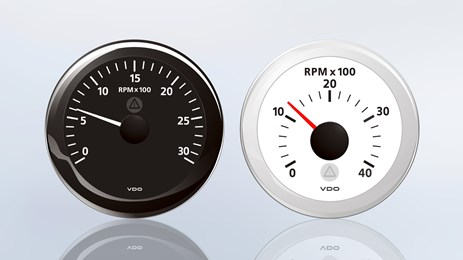 The ViewLine tachometer gauge indicates reliably the engine revolution.